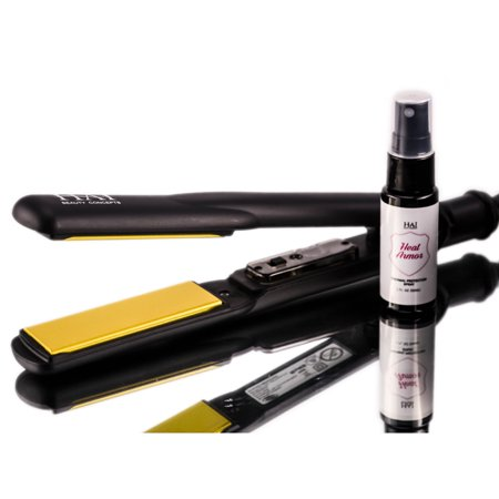 HAI Beauty Concepts- Gold Convertable - Professional Styling Iron - 1 1/4 in (Hai Enclosure)