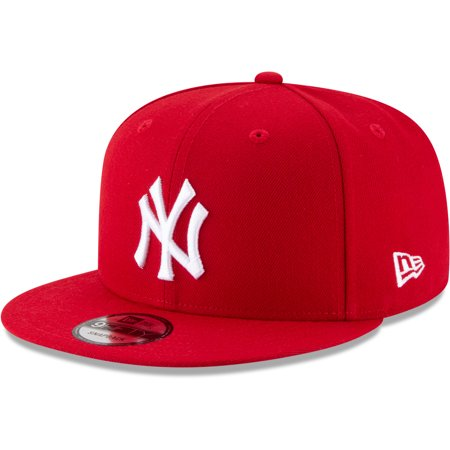 New York Yankees New Era Basic 9FIFTY Adjustable Hat - Red - OSFA