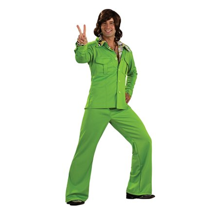 1970s Leisure Suit Lime Green R889183 - Lime Green Zoot Suit