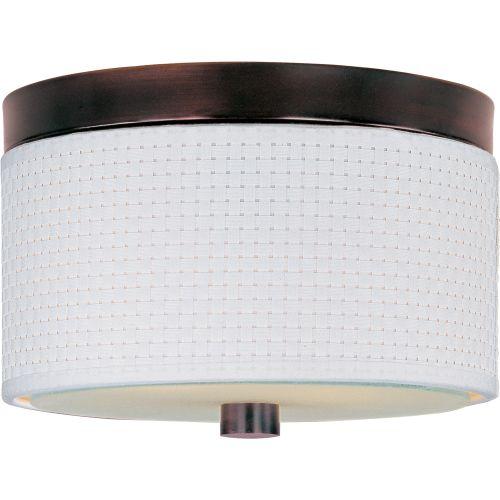 ET2 E95000-100 Elements 2-Bulb Flush Mount Indoor Ceiling Fixture - Fabric Shade