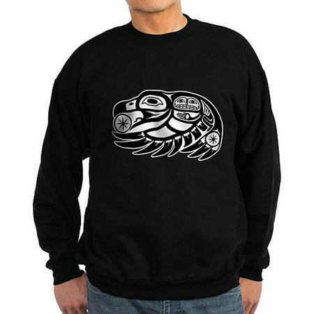 Cafepress Big Mens Raven Native American Design Sweatshirt