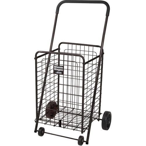 Drive Medical Winnie Wagon All Purpose Shopping Utility Cart, Black