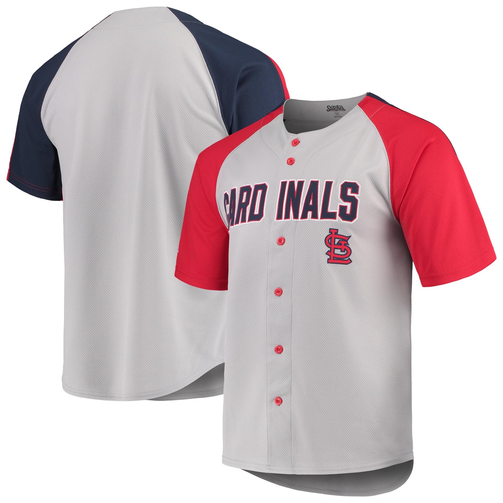 St. Louis Cardinals Stitches Lightweight Mesh Jersey - Gray/Red