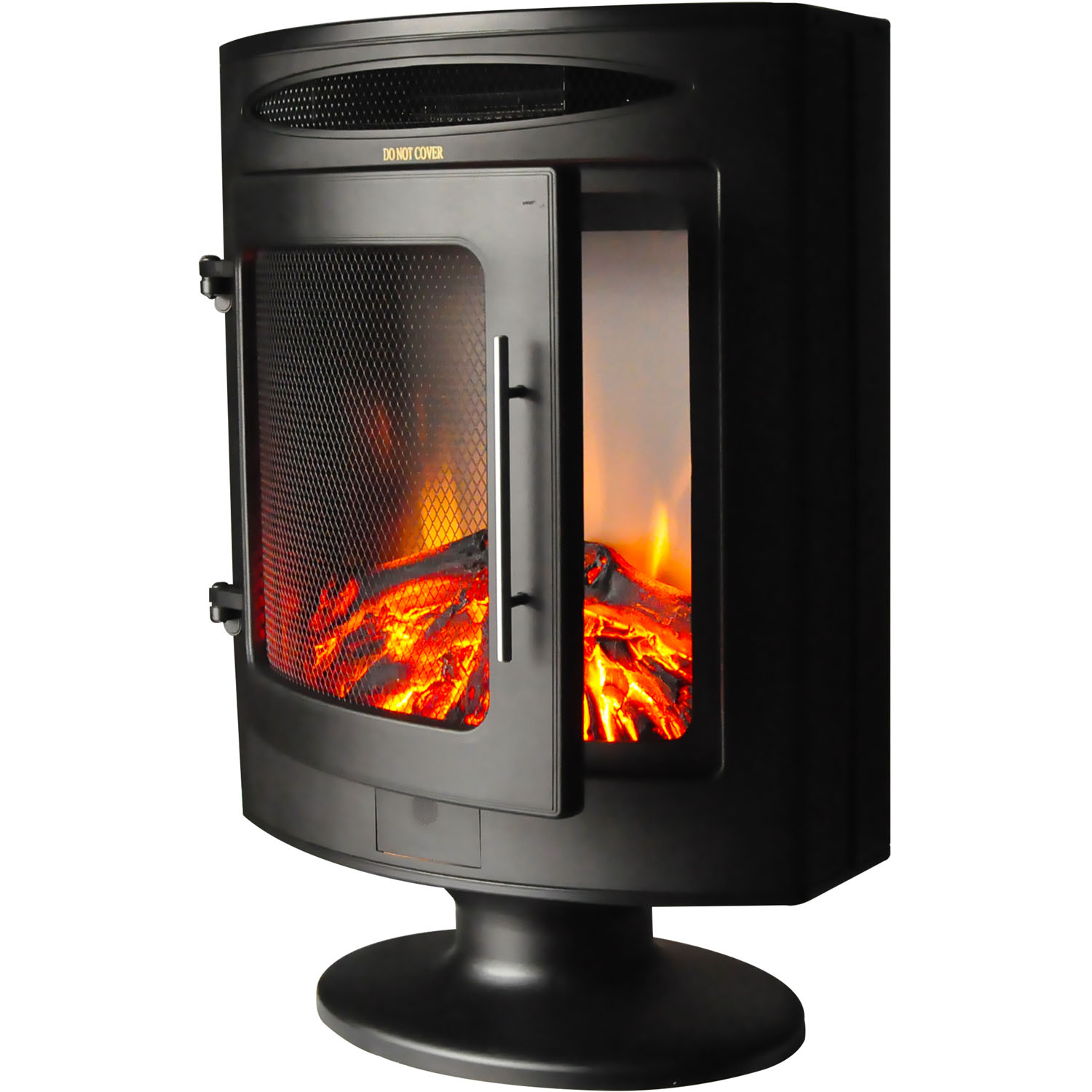 Cambridge 1500w Freestanding Electric Fireplace Heater In Black With Log Display Com