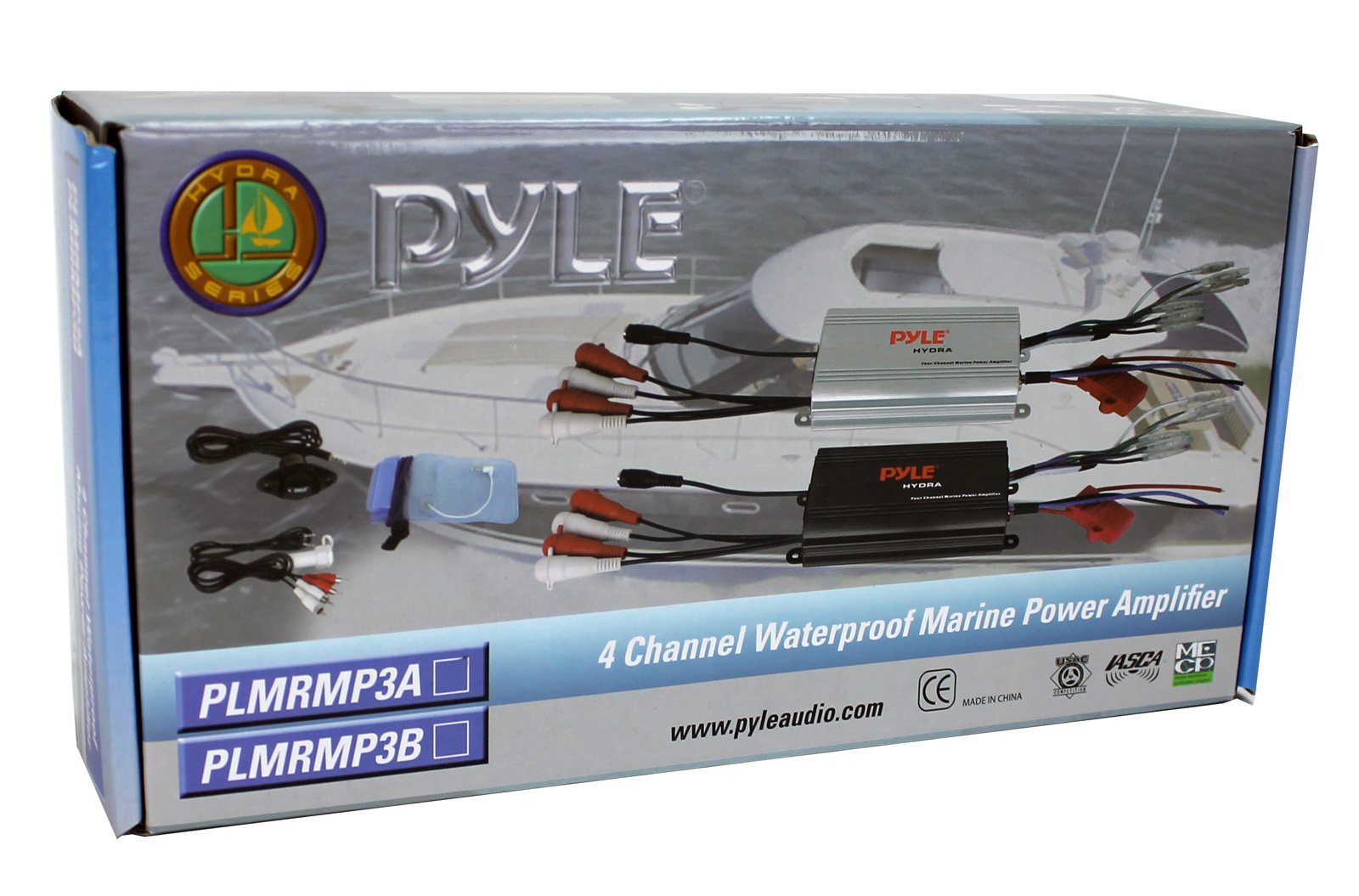 Pyle PLMRMP3A 4 Channel Marine Waterproof MP3/iPod Amplifier + Bluetooth  Dongle - Walmart.com