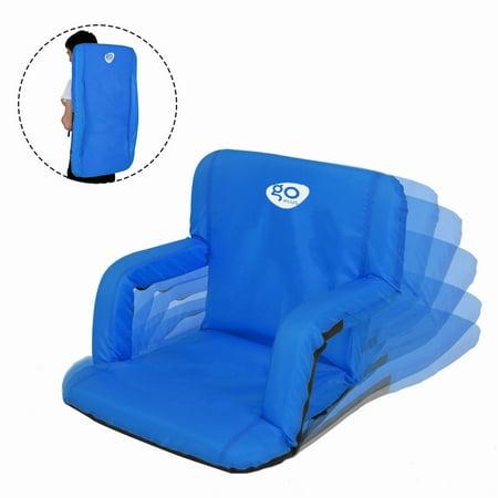 Goplus Portable Camping Sport Beach Reclining Seat Padded