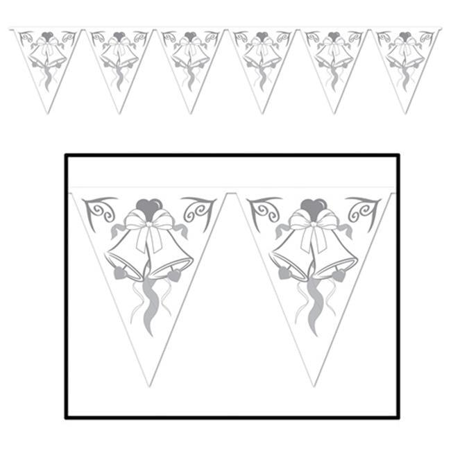 Beistle 57724 Wedding Bells Pennant Banner Pack of 12