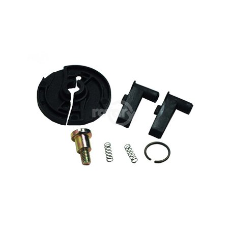 Starter Pulley Repair Kit fits Honda Models:  GX110, 120, 140 & 160.  Replaces Honda 28422-ZH8-013 (RATCHET), 28443-ZH8-003 (Spring), 28441-ZH8-003 (Washer), 28433-ZH8-003 (Guide - Spring Distance Kits