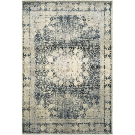 Moretti Talon Area Rugs - 4445S Traditional Oriental Ivory Medallion Petals Rings Diamonds (Ivory Traditional Rug)