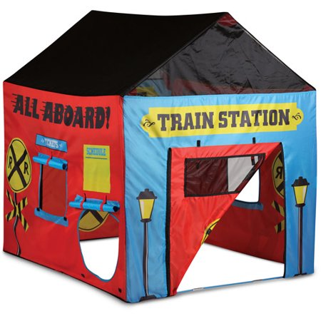 train station play tent red. Black Bedroom Furniture Sets. Home Design Ideas