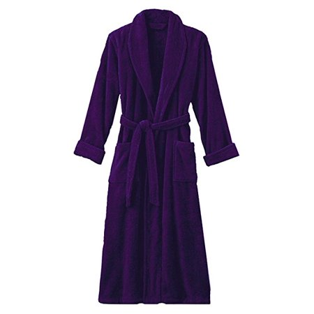 Hotel Luxury Reserve Purple Terry Velour Bathrobe For (Luxury For Women)