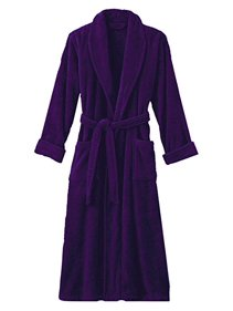 50442d5663 Hotel Luxury Reserve Purple Terry Velour Bathrobe For Women