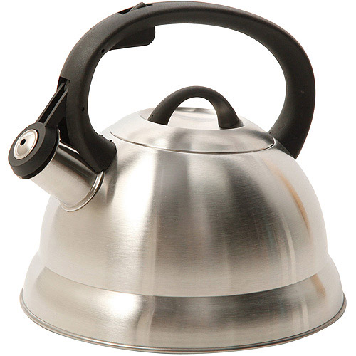 Mr. Coffee Flintshire 1.75 qt Stainless Steel Whistling Tea Kettle, 91407.02