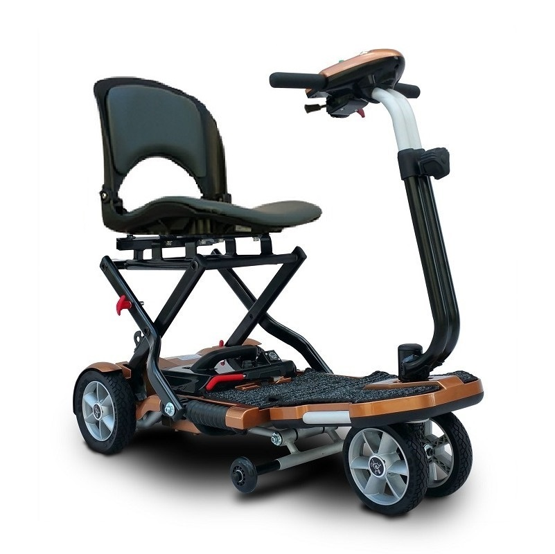 EV Rider Transport Plus Folding Mobility Scooter, Copper Color, 3 Year Warranty