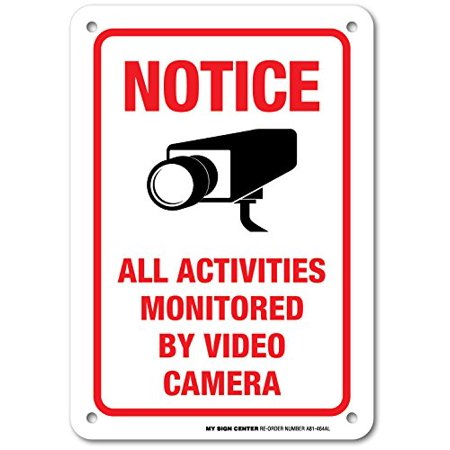 Notice All Activities Monitored By Video Camera - 7