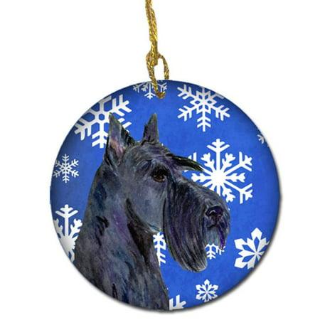 Scottish Terrier Winter Snowflakes Holiday Christmas Ceramic Ornament - image 1 de 1