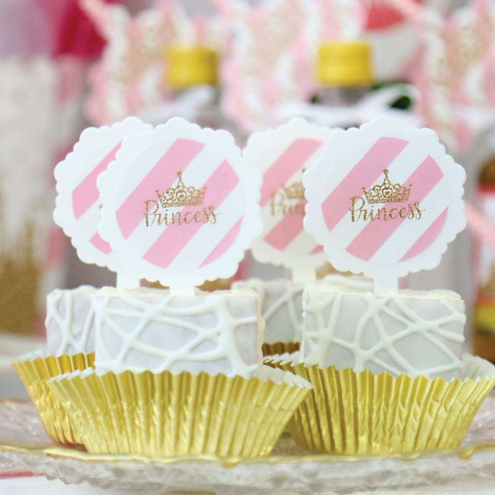 Little Princess Crown - Cupcake Picks with Stickers - Baby Shower or ...