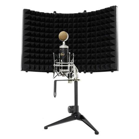 blue baby bottle sl studio condenser recording microphone mic isolation shield. Black Bedroom Furniture Sets. Home Design Ideas