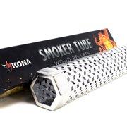 """Kona 12"""" Smoker Tube - Wood Chips or Pellets - 20 Gauge Stainless Steel"""