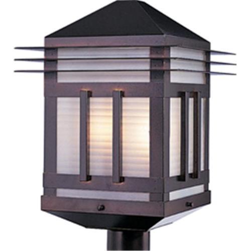 Maxim Lighting 8725PRBU Gatsby 2-Light Outdoor Pole/Post Lantern - Burnished