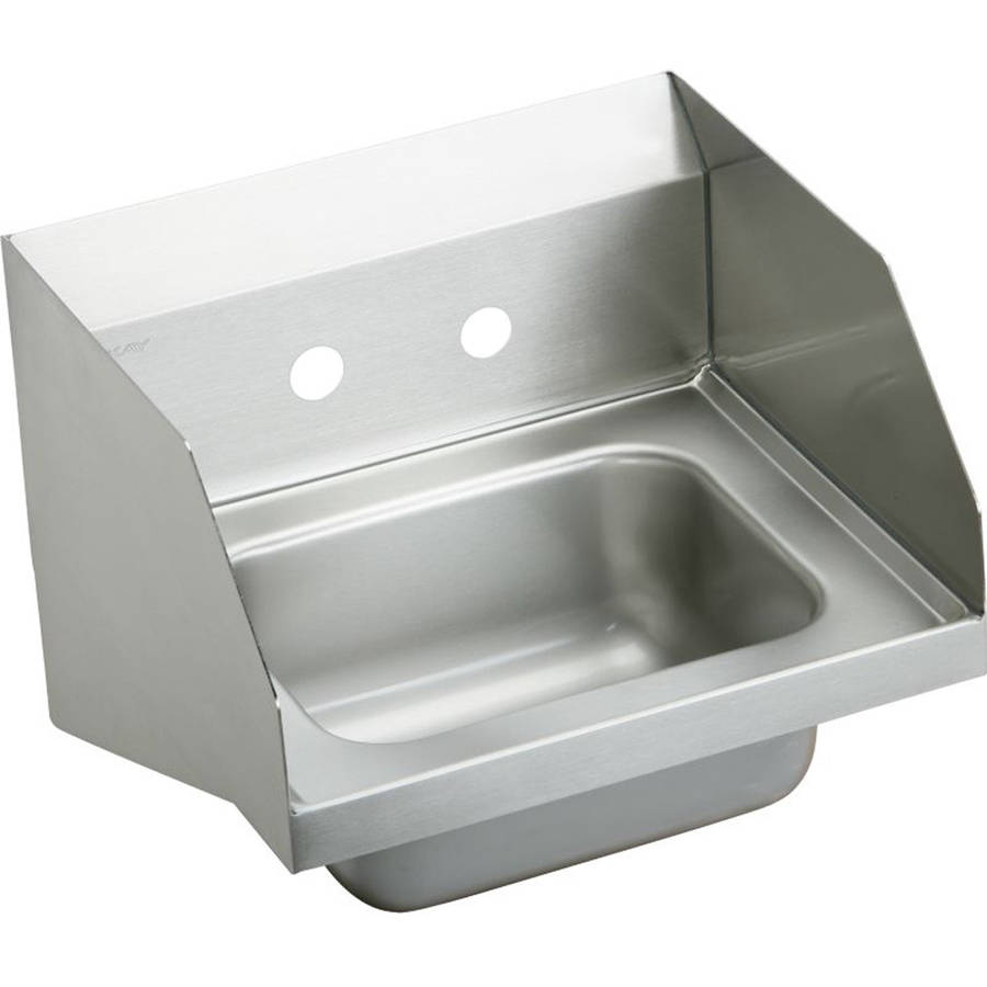 Elkay CHS1716LRS2 Commercial Stainless Steel Handwash Sink with 2 Faucet Holes