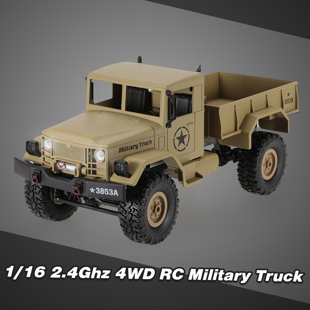 HENG LONG 3853A 1 16 Off-Road RC Military Truck 4WD Rock Crawler Car Gift for Kids RTR by