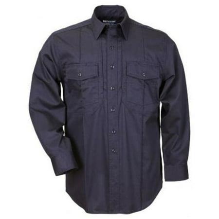 5.11 Tactical Men's Twill PDU Long Sleeve Class-A Shirt, Midnight Navy