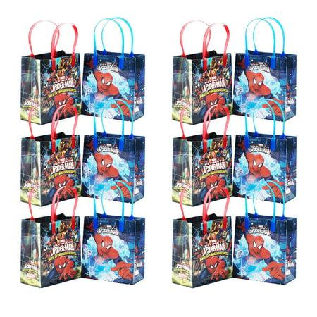 Marvel Spiderman Goodie bags Goody Bags Gift Bags Party Favor Bags 12pcs](Goodie Or Goody)