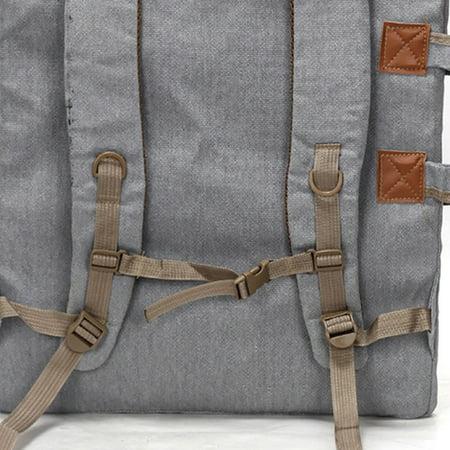 Art Portfolio Bag Case Backpack Drawing Board Shoulder Bag with Zipper Shoulder Straps for Artist Painter Students Artwork - image 8 de 8