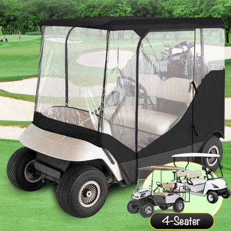 Waterproof Superior Black And Transparent Golf Cart Cover
