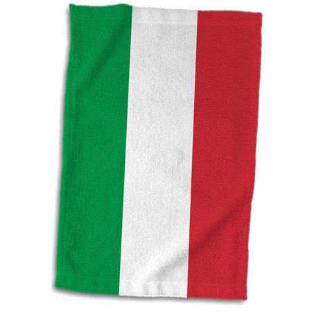 3dRose Flag of Italy square. Italian green white red vertical stripes European Europe World travel souvenir - Towel, 15 by 22-inch ()