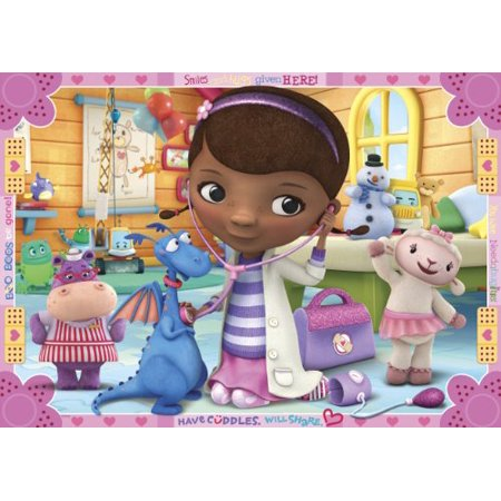 Doc Mcstuffins Have Cuddles Edible Cake Topper Frosting 1/4 Sheet Birthday - Dr Mcstuffin Cake