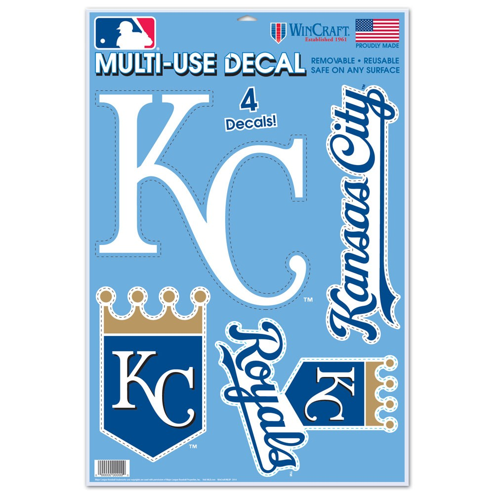 Kansas City Royals Official MLB 11 inch x 17 inch  Static Cling Window Car Decal by Wincraft