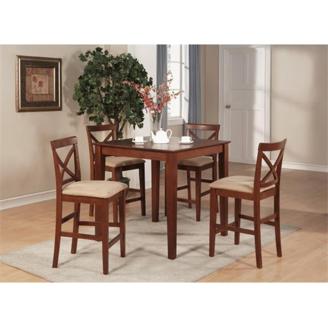 5 Piece Counter Height Dining Set-Gathering Table and 4 Counter Height Chairs