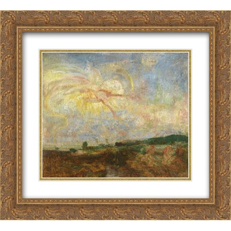 James Ensor 2x Matted 24x20 Gold Ornate Framed Art Print 'Adam and Eve Expelled from