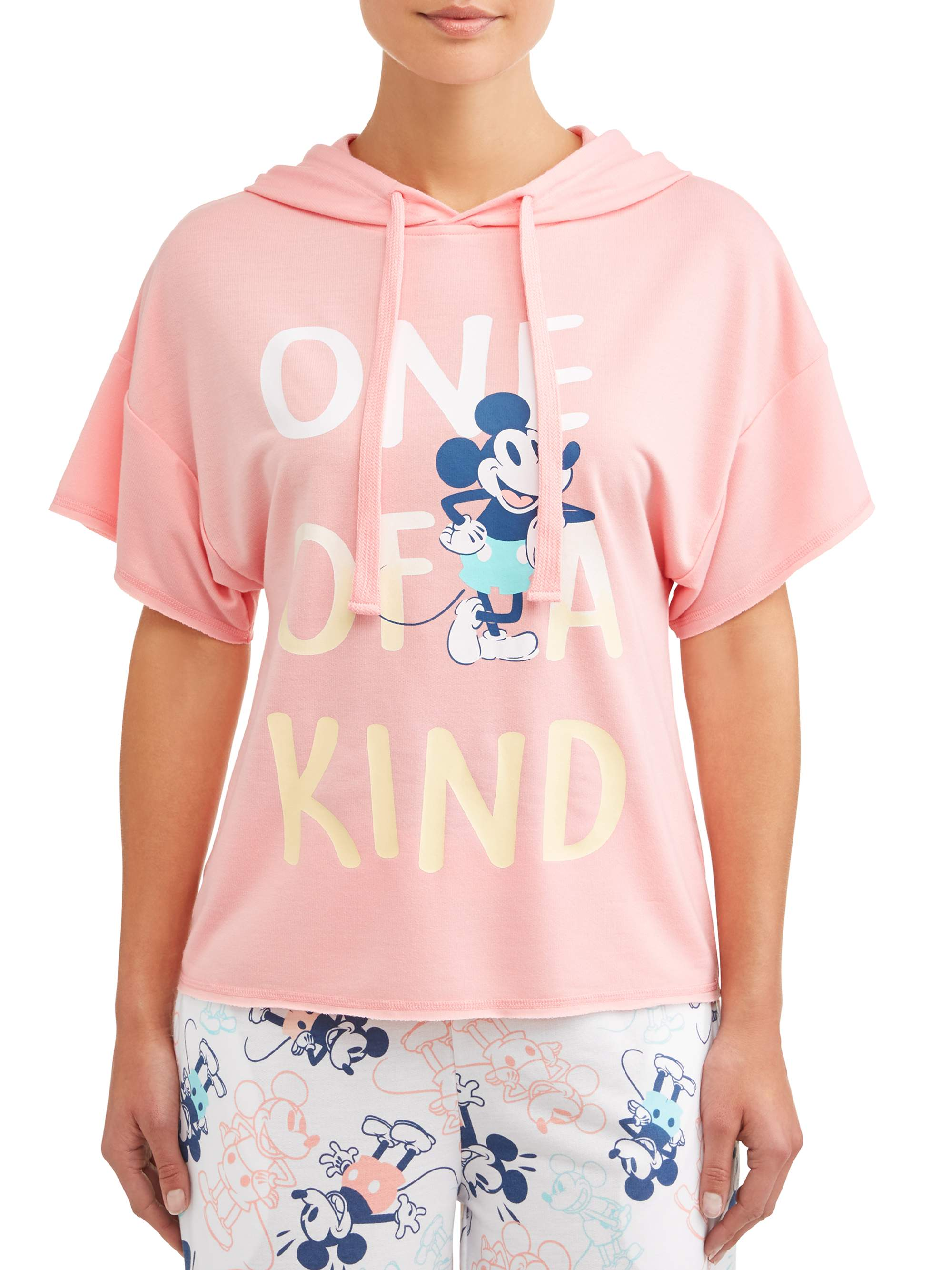Disney Women's and Women's Plus License Hooded Top Mickey
