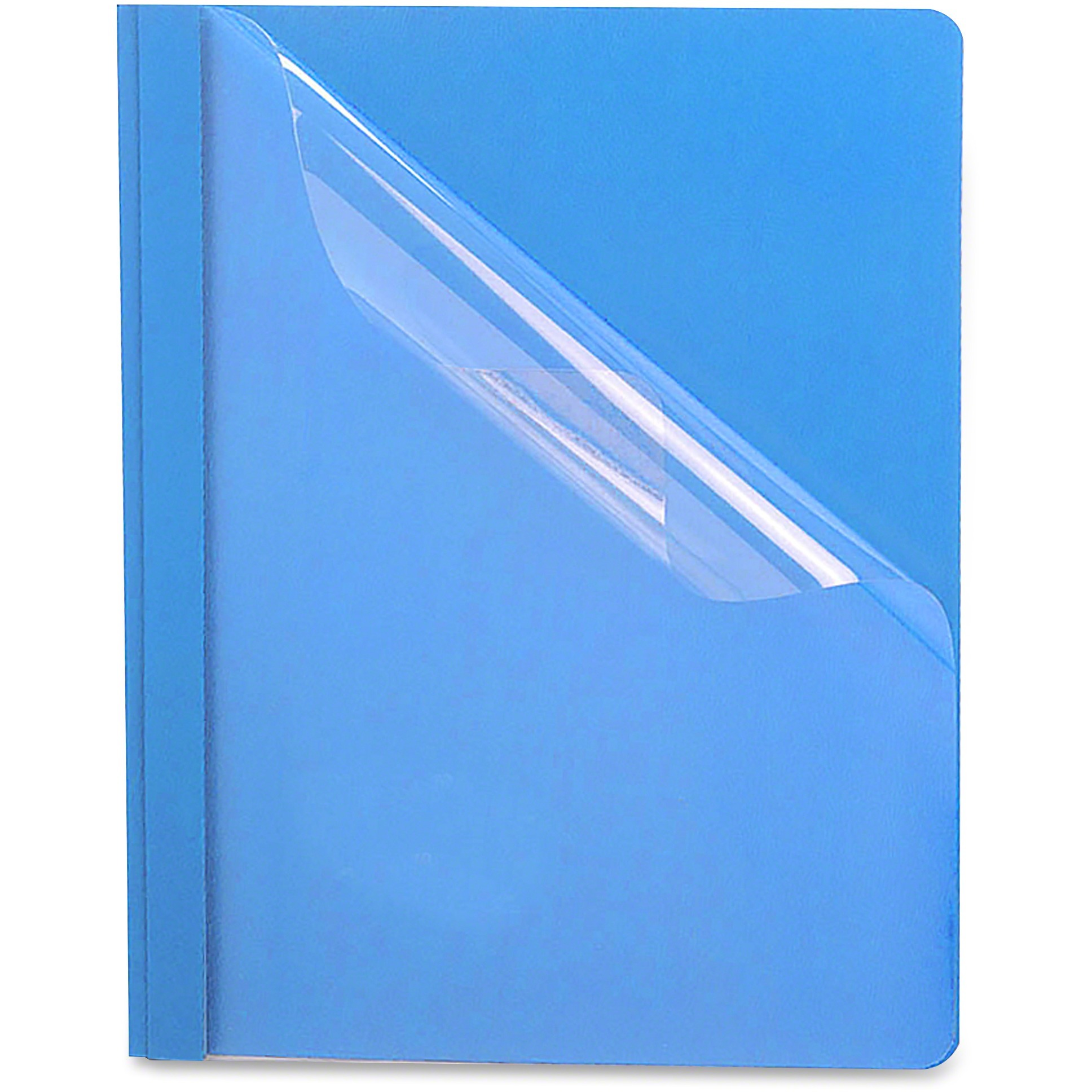 Oxford, OXF58801, Premium Clear Front Report Covers, 25   Box, Dark Blue by TOPS Products