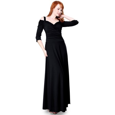 Evanese Womens Elegant Slip On Long Formal Evening Dress With 34