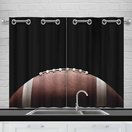 MKHERT American Football Window Curtain Kitchen Curtain 26x39 inch,Two - Football Curtains