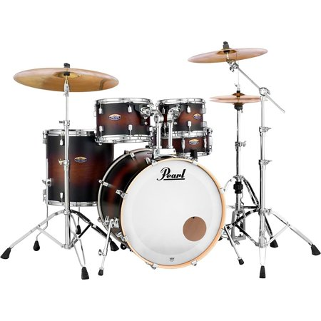 Pearl Decade Maple 5-Piece Shell Pack Satin Brown Burst (Sp Drum Set)