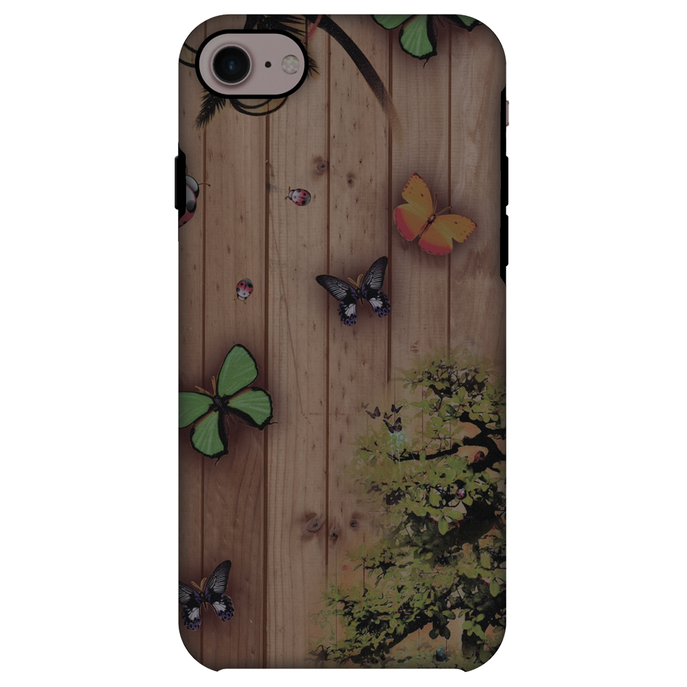 iPhone 8 ShockProof Case, Premium Handcrafted Printed Designer Dual Layer Case Back Cover for iPhone 8 - Bonsai Butterfly