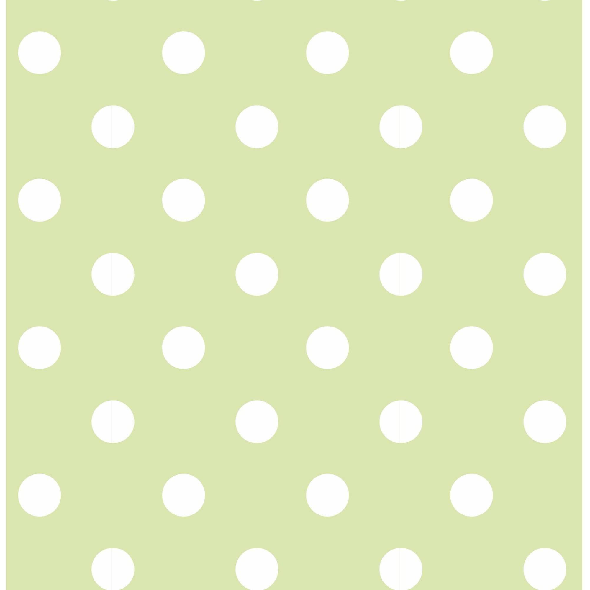 NuWallpaper Green Dottie Peel and Stick Wallpaper by Brewster