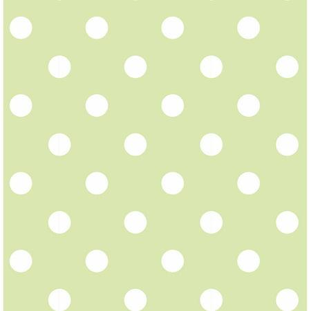 NuWallpaper Green Dottie Peel & Stick Wallpaper