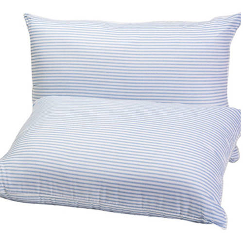 "Mainstays HUGE Pillow (20""x28"") in Blue and White Stripe, Set of 2"
