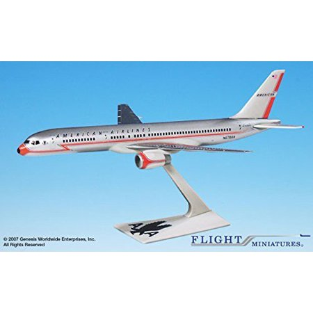 American 40th Anniversary 757-200 Airplane Miniature Model Plastic Snap Fit 1:200 Part# ABO-75720H-200