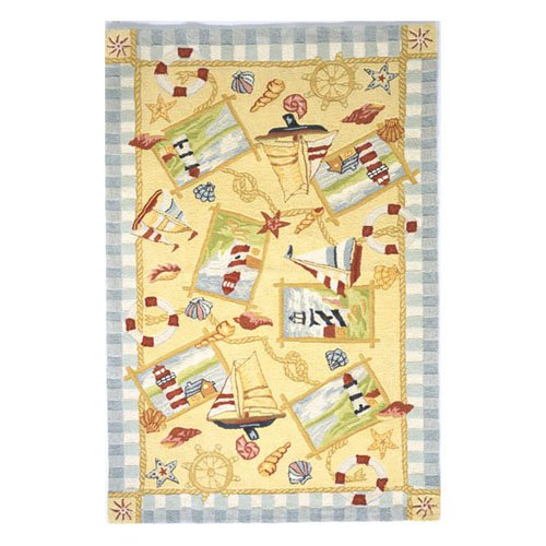 Momeni Coastal Nautical Sand CC-06 Area Rug