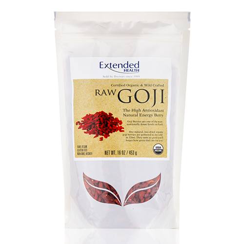 RAW Goji Berries - 16 oz (453 Grams) by Extended Health