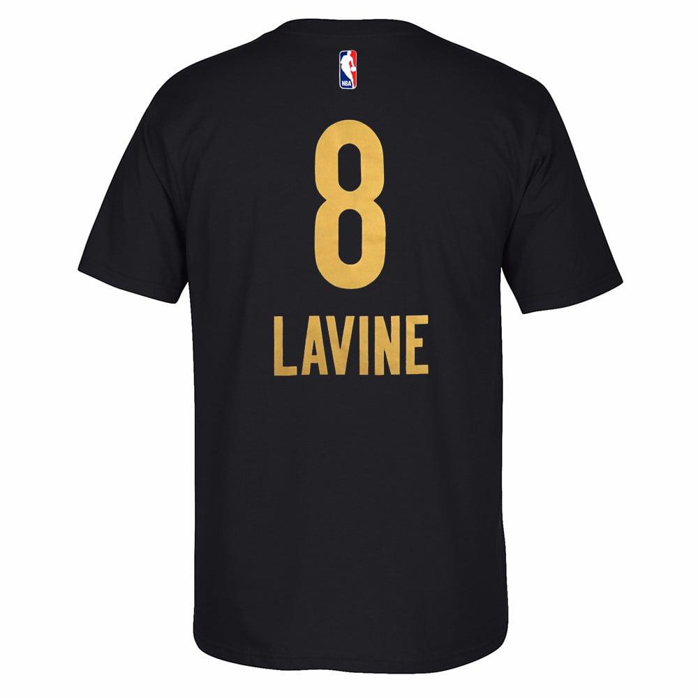 "Zach Lavine Minnesota Timberwolves NBA Adidas Black ""Rising Star"" Name & Number Player Jersey T-Shirt For Men"