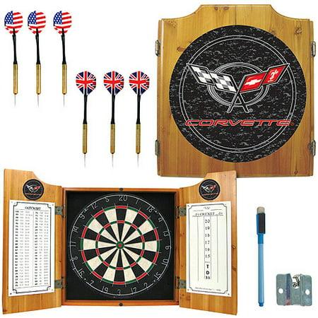 Corvette C5 Dart Cabinet Includes Darts and Board