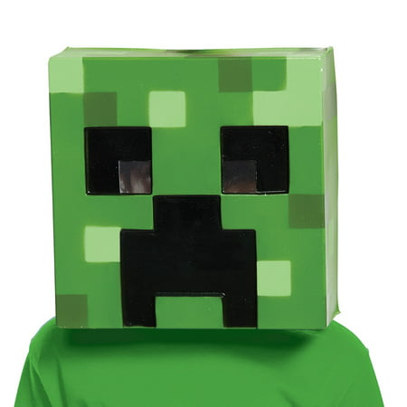 Minecraft Creepr Vacuform Mask Adult Halloween Accessory](A Minecraft Halloween)